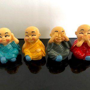 4Pc Monks Miniature Figurines Ornament MC0…
